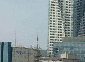 左側には東京タワーが見られます。