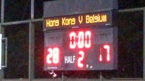 香港vsベルギー 第1戦