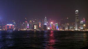 香港島のクリスマスディスプレイ