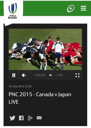 PNC2015 JAPAN vs CANADA