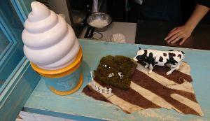 原宿でソフトクリーム