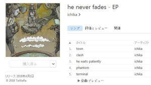 he never fades / ichika