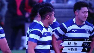 2019大学ラグビー 明治大学vs早稲田大学