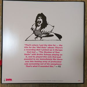 THE HOT RATS SESSION / FRANK ZAPPA