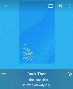 in my own way e.p. / in the blue shirt と Swim / in the blue shirt & 川辺 素